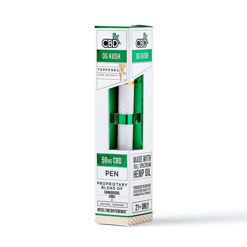CBDfx Disposable Vape Pen - 50mg CBD - TERPINE OG KUSH FLAVOUR