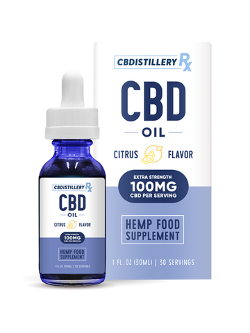 CBDistillery Rx - 3000mg (100mg/ml) - 30ml - Broad Spectrum CITRUS Tincture