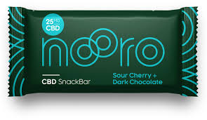 Nooro Sour Cherry & Chocolate CBD Bar - 25mg CBD