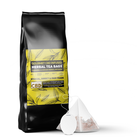 Equilibrium Ginger & Turmeric Tea Bags - 12 Bags - 3.4mg CBD Per Bag
