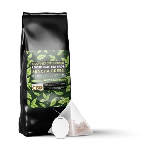 Equilibrium Japanese Sencha Green Tea Bags - 12 Bags - 3.4mg CBD Per Bag