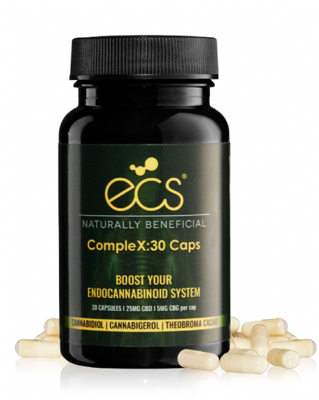 ECS CompleX - 25mg CBD and 5mg CBG Capsules