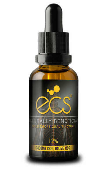ECS Gold Drops CBD/CBG Oral Tincture - 3000mg - 30ml