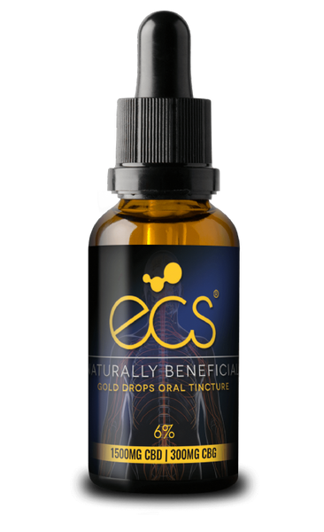 ECS Gold Drops CBD/CBG Oral Tincture - 1500mg - 30ml