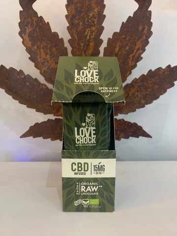 Lovechock CBD Raw Chocolate - 15mg CBD