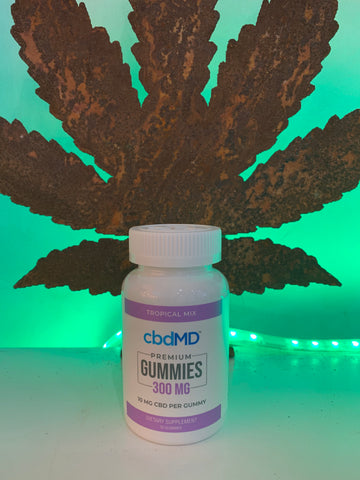 cbdMD - Gummies - 300mg CBD - 10mg CBD Per Gummy - 30 Count