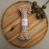 metallic and cotton rope for macrame and fibre crafts from Knot Modern macrame