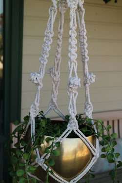 The Lesley Pot Hanger DIY macrame kit by Knot Modern