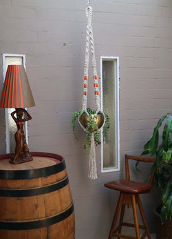 The Retro Pot Hanger DIY macrame kit by Knot Modern