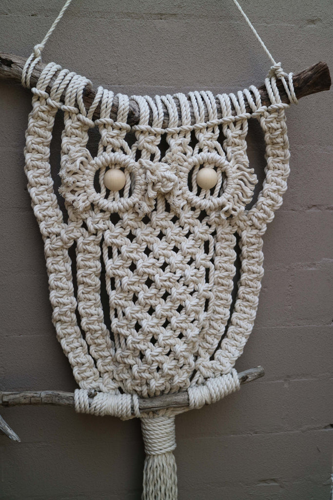 Big Al Large Owl Wall Hanging Diy Macrame Kit Knot Modern