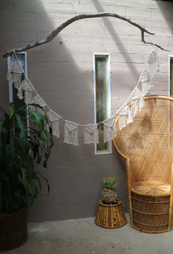 The Celebration Bunting DIY macrame kit by Knot Modern