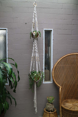 The Double Pot Hanger DIY macrame kit by Knot Modern