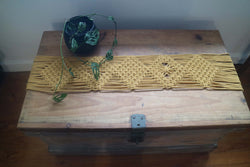 knot modern macrame table runner
