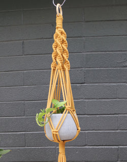 Simplicity pot hanger diy macrame kit by knot modern