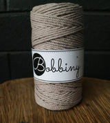 Bobbiny 3 PLY macrame Rope 3mm- range of colours available