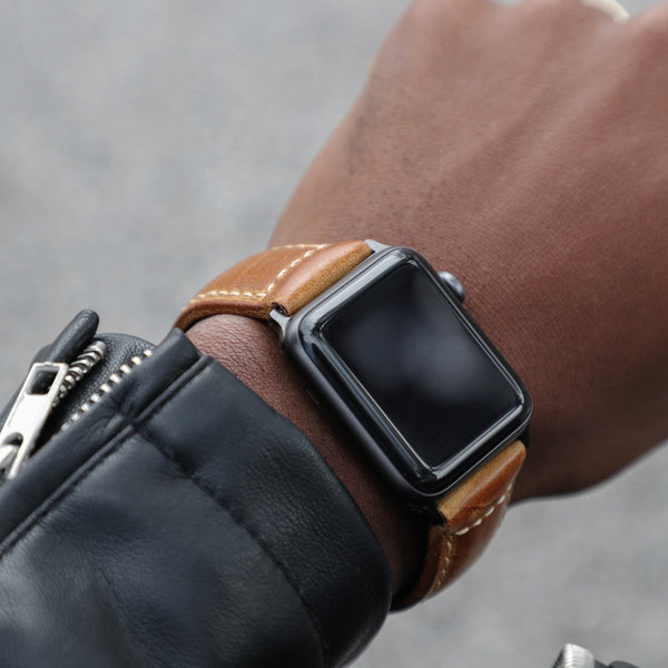 5761222280fab Confidens  Tan - Our Premium Brown Leather Apple Watch Band – Strapa