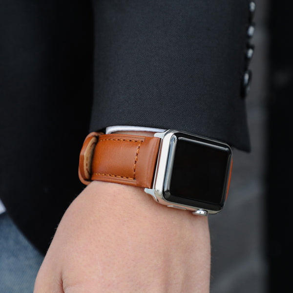 0bccd16769bc0 Ingenium  Coffee - Our Stylish Brown Leather Apple Watch Band – Strapa