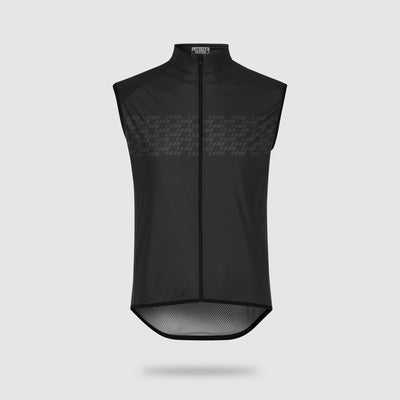 Lightweight Windbreaking Cycling Gilet Black