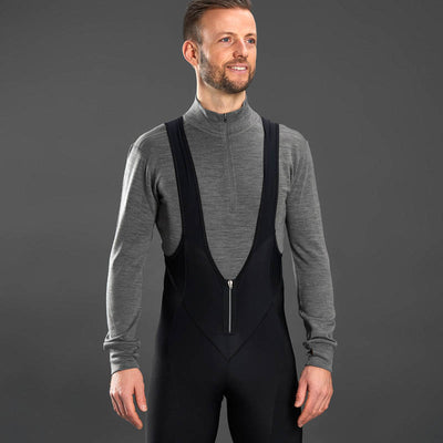 Merino Bamboo Half Zip Long Sleeve Base Layer