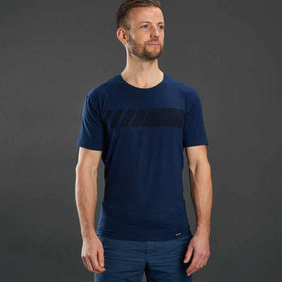 Racing Stripe Short Sleeve Organic Cotton T-Shirt