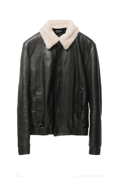 DEAN´S BOMBER LEATHER JACKET BLACK