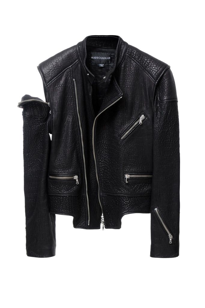Dean's Heavy Leather Jacket Black
