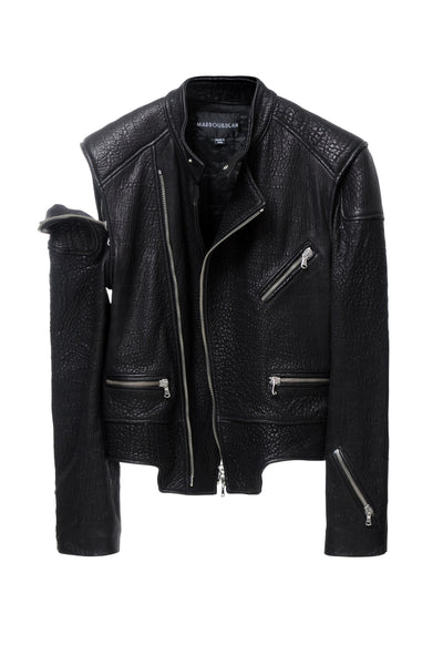 DEAN´S HEAVY LEATHER JACKET BLACK
