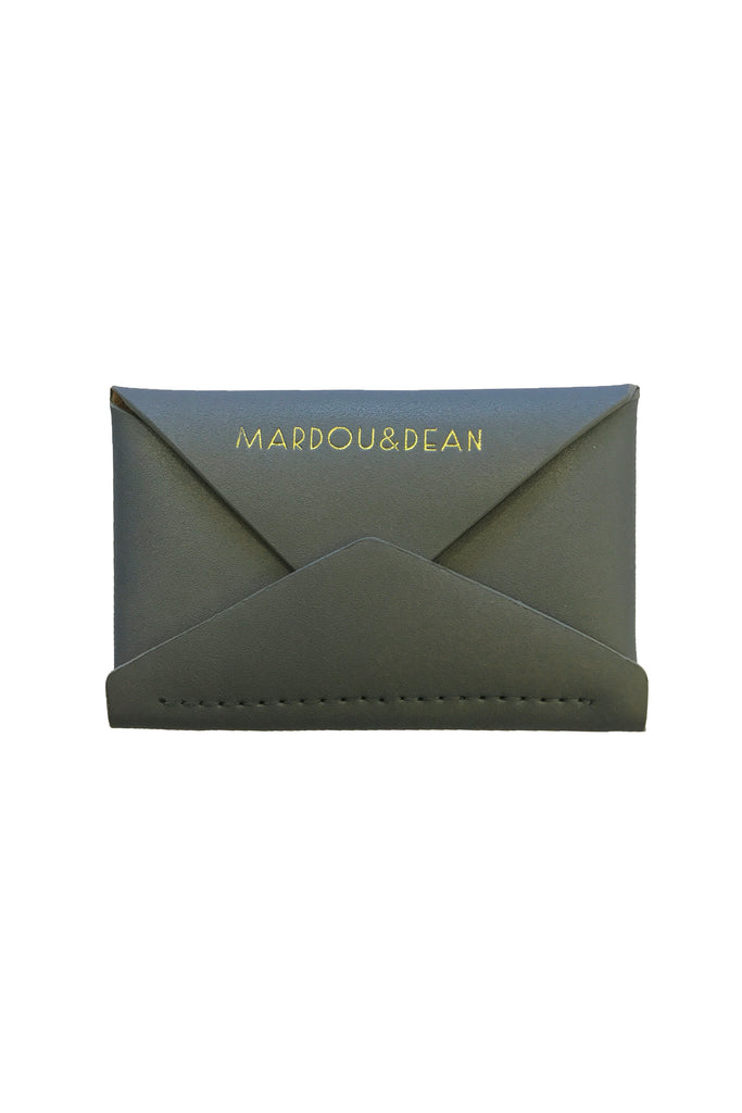 MARDOU&DEAN LEATHER WALLET BLUEMETALIC