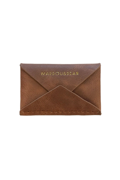 MARDOU&DEAN LEATHER WALLET BROWN