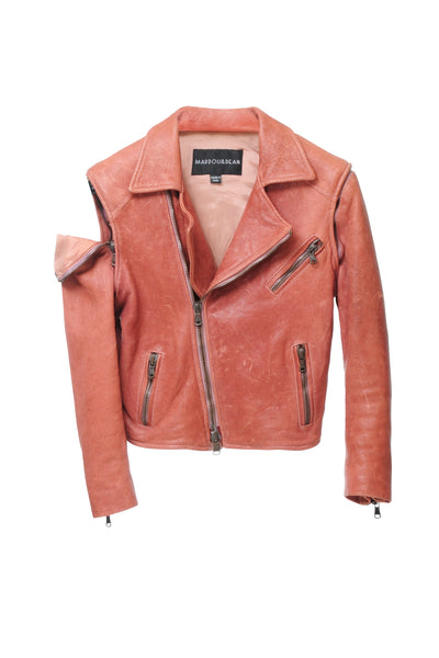 MARDOU´S HEAVY LEATHER JACKET PINK