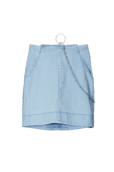 MARDOU´S MECHDENIM SKIRT BLUE