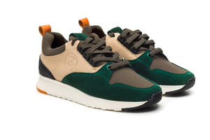 Street Runner Green - Limited Edition - ORZHAUS - Suede and Leather Chelsea and Chukka Desert Boots