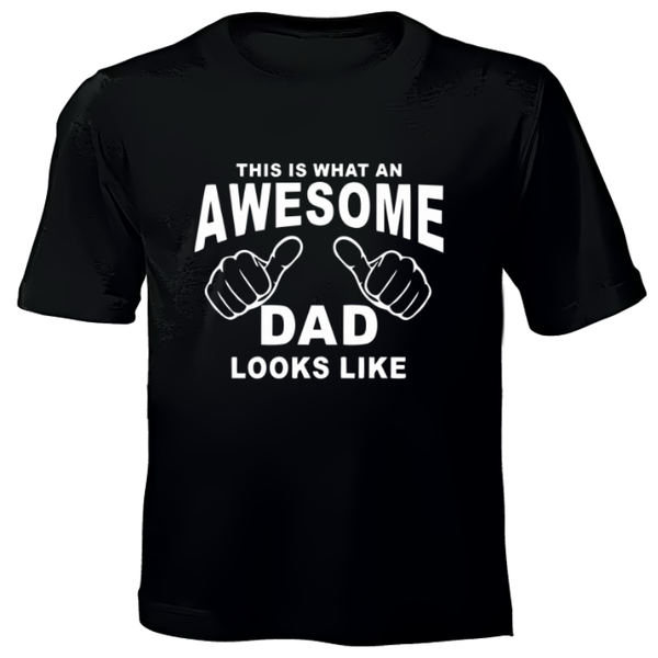 Awesome Dad - Printed T-Shirt