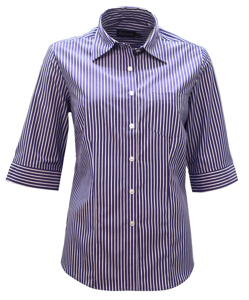 Rolando - K205 Ladies Stripe 3/4 Sleeve Wendy Blouse