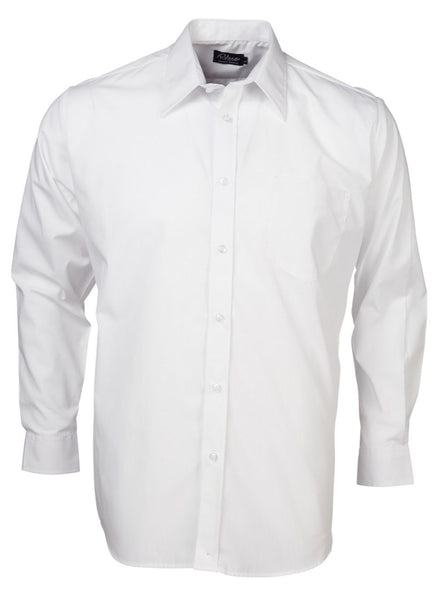 SALE Rolando - P070 Mens Easy Care Poplin L/S Lounge Shirt