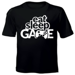 Eat, Sleep, Game Kids Printed T-shirts
