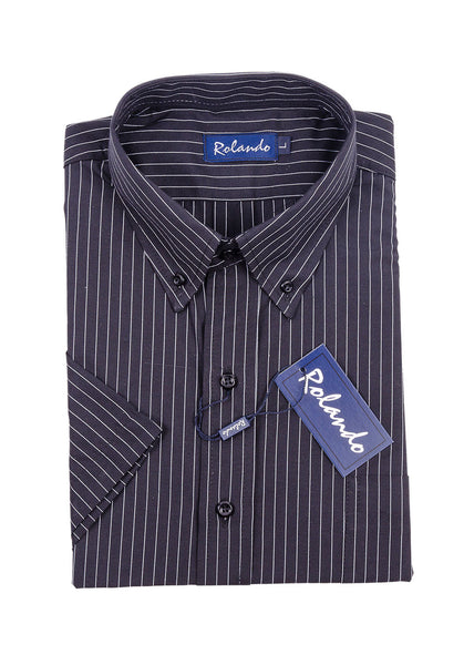 Mens Short Sleeve Stripe Shirt by Rolando