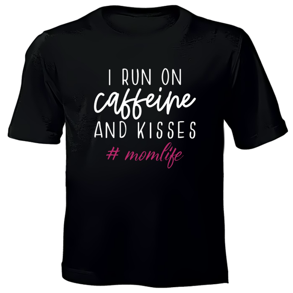 Printed T-shirt - Caffeine and Kisses