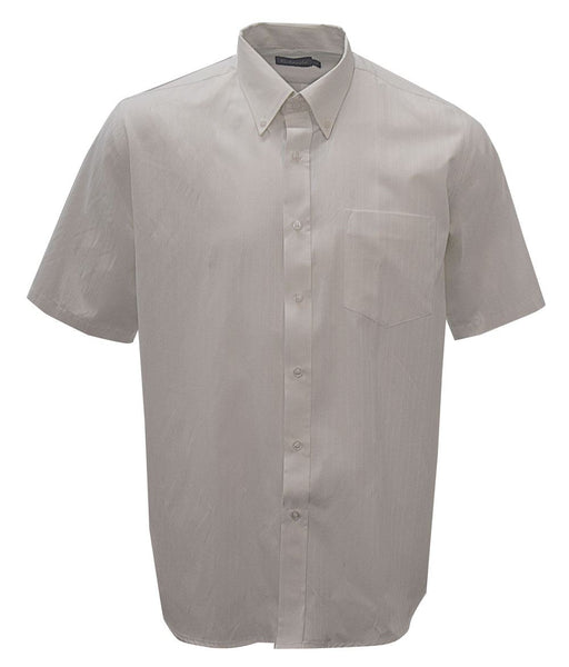 Mens white self stripe short sleeve lounge shirt