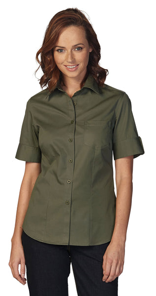 Rolando - K207 Ladies Brushed Cotton S/S Angelique Blouse