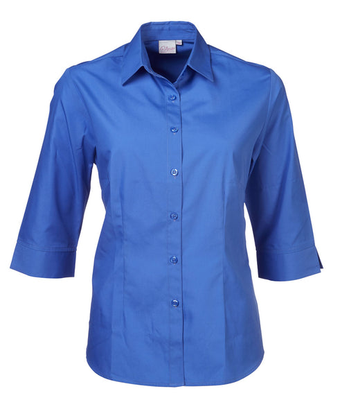 Rolando - P070 Ladies Easy Care Poplin 3/4 Sleeve Cathy Blouse