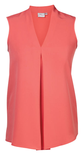 Sleeveless Koshibo Blouse Coral