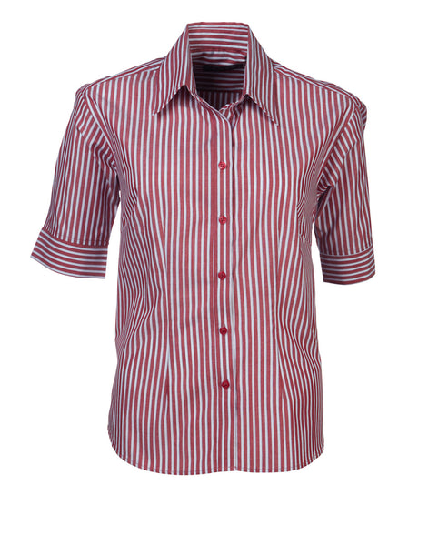 Renzo - S10 Ladies Stripe S/S Megan Blouse
