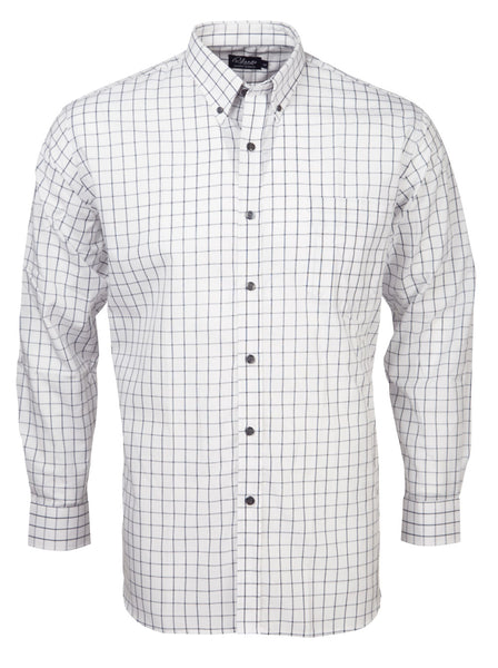 SALE Rolando - K114 Mens Italian Check L/S Lounge Shirt