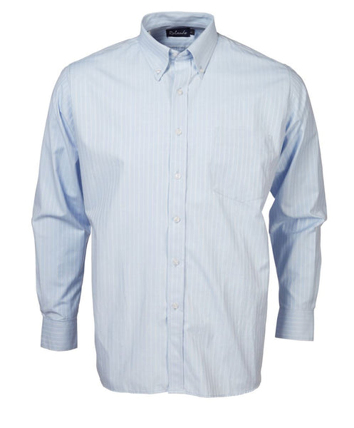 Mens sky blue long sleeve lounge shirt