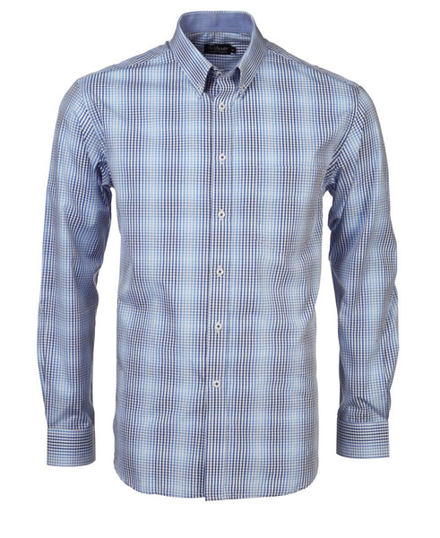 Rolando - K211 Mens Varigated Check L/S Lounge Shirt