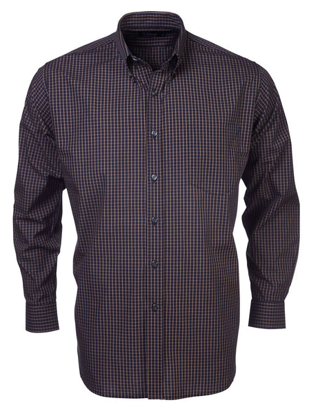 Rolando - K82 Mens Italian Check L/S Lounge Shirt