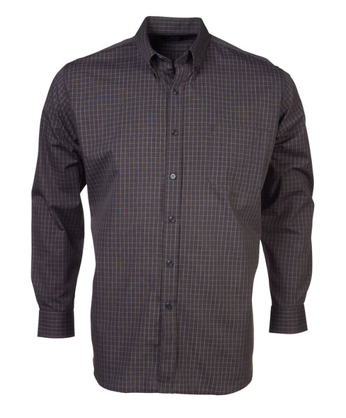 Rolando - P04 Mens Percale Check L/S Lounge Shirt