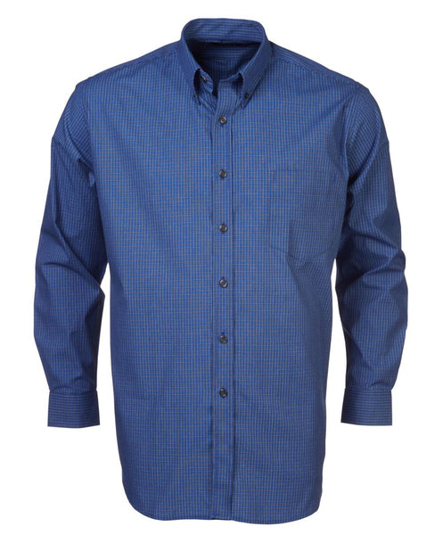 Rolando - P05 Mens Percale Check L/S Lounge Shirt