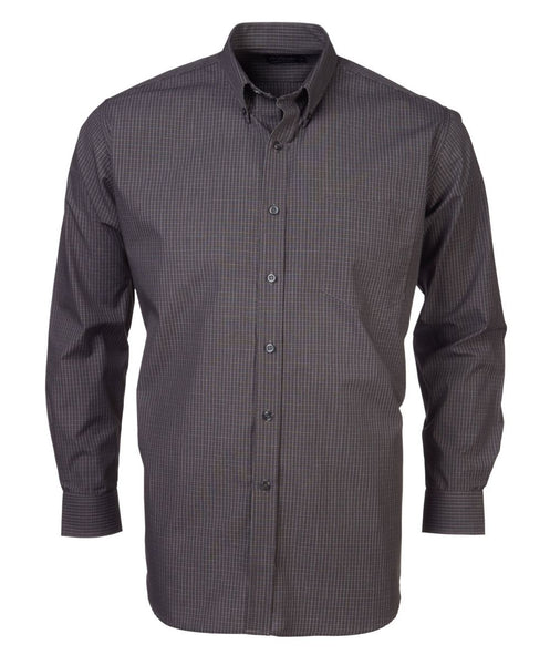 Rolando - P05 Mens Percale Check S/S Lounge Shirt
